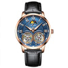 Watches Tourbillion Hollow Leather Waterproof