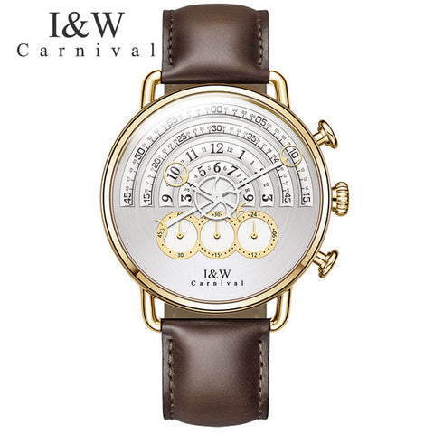 Classic Big Dial Quartz Men Watch Luxury