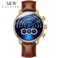 Watch men Sapphire silver stainless stell