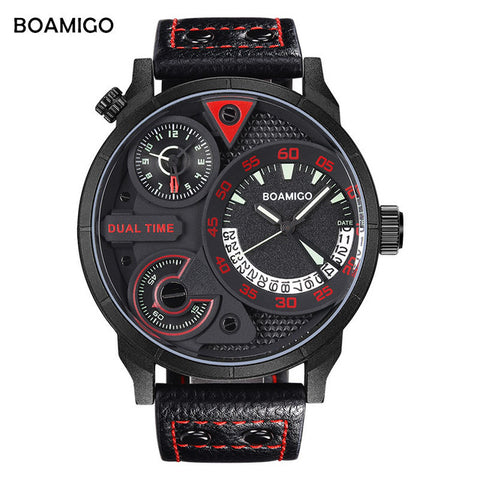 Mens genuine leather wristwatches