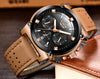 Watch Men Casual Leather Big Dial Sport
