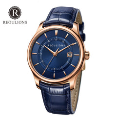 Men Watches Luxury Leather Business