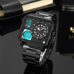 Sport Square Watch Stainless Light