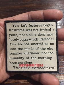 Days With Dr. Yen Lo Patch