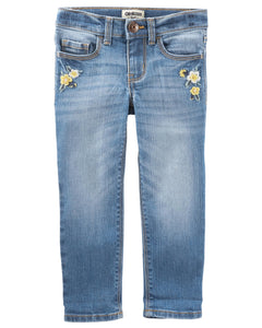 Skinny Fit Stretch Jeans - Lagoon Blue Wash