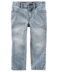 Straight Jeans - Sun Faded Light Wash
