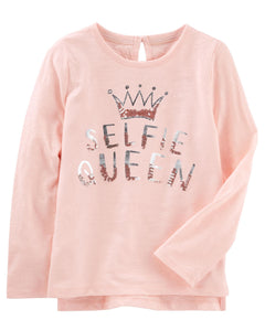 Selfie Queen Jersey Top
