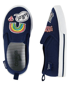 Novelty Patch Slip-On Shoes