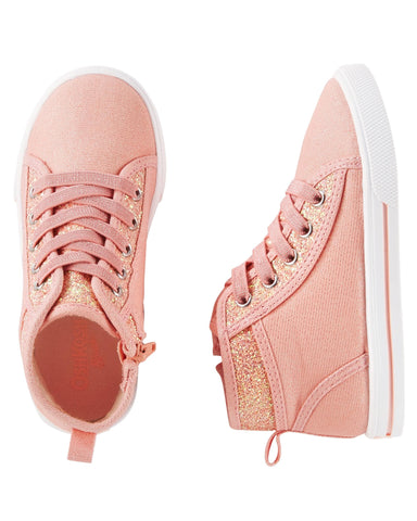 Pink High-Top Sneakers