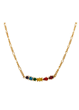 Rainbow Figaro Necklace