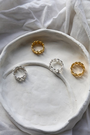 Chunky Chain Ring Gold