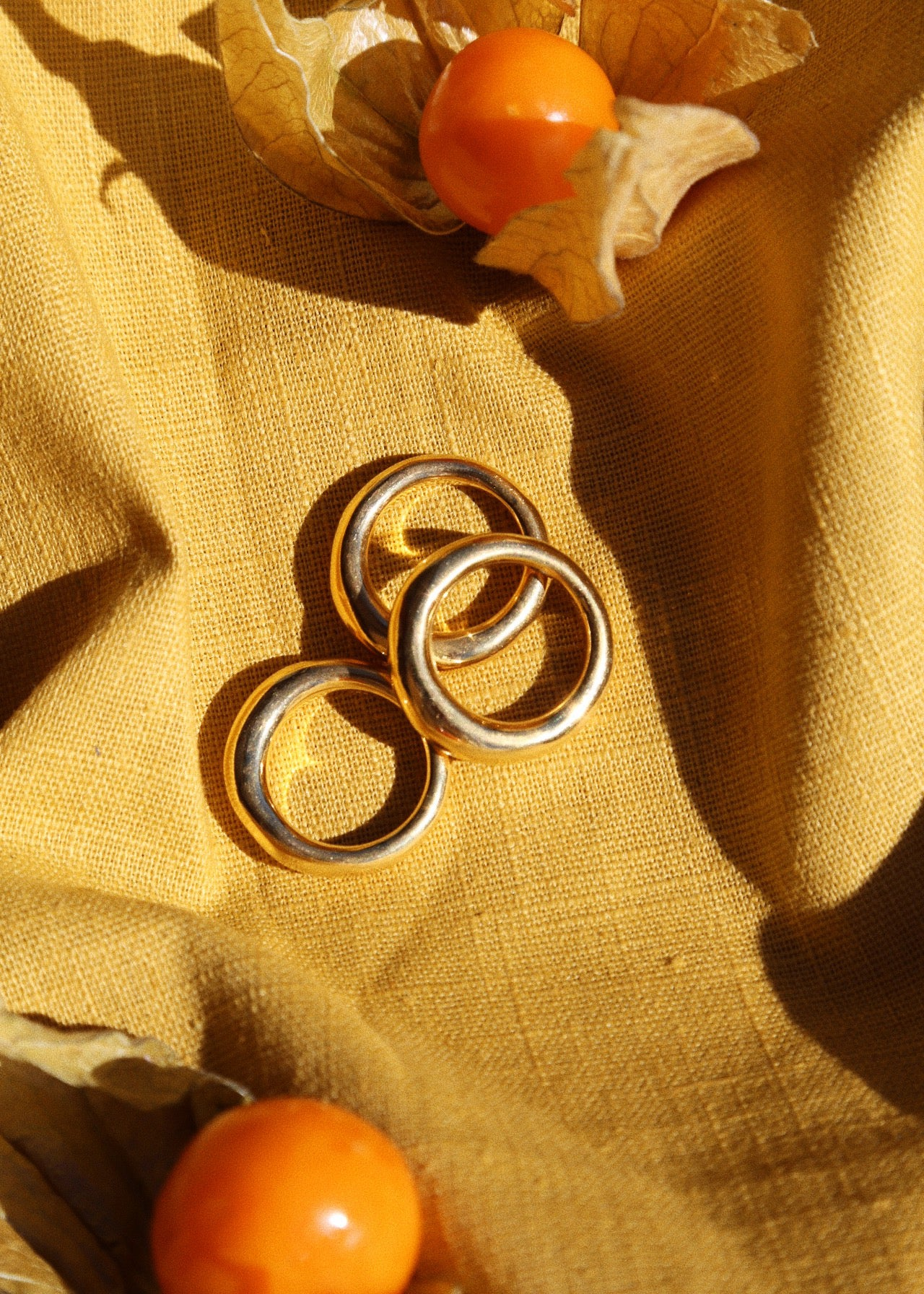 Imperfetto Rings Set of Three Polished
