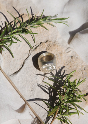 Luce del Sole Signet Ring Silver
