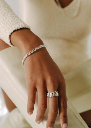 Chunky Chain Ring Silver