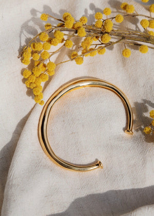 Open Bangle Gold Plated