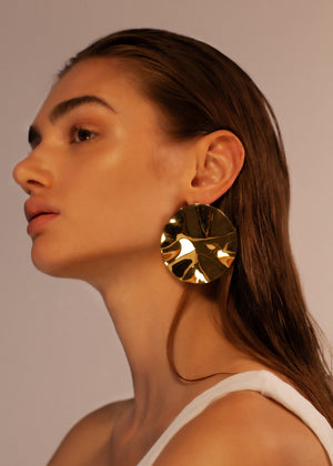 Wabi Sabi Huge Disc Earrings