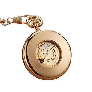 skeleton mechanical pocket watch