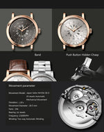 Load image into Gallery viewer, New LOBINNI Men Watches Top Luxury Brand Japan Import NH35A SII O Auto Mechanical MOVT Men's Clock Sapphire reloj hombre L1018-1