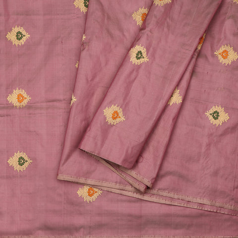Handwoven Onion Pink Banarasi Silk Unstitched Fabric - WIIAM0089 12 - Cover View
