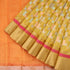 Handwoven Mustard Silk Cotton Chanderi Sari - WIIAPRI CFJS(3) - Cover View
