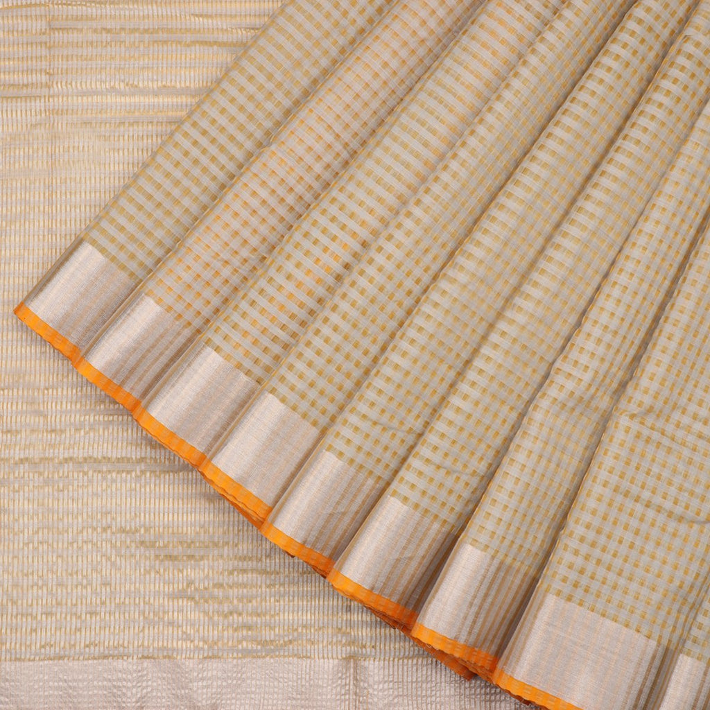 HANDWOVEN YELLOW CHANDERI SILK SARI-WIIAPRICCSR01- Cover View