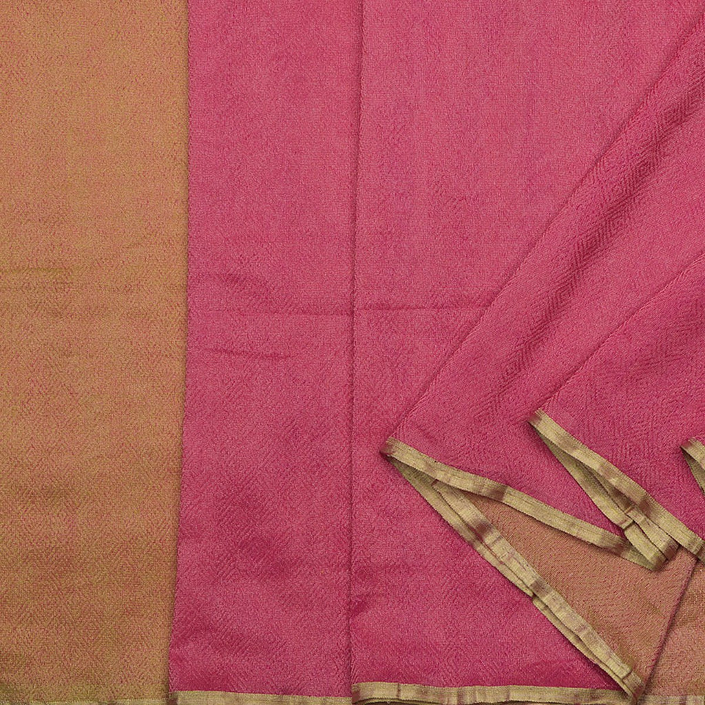 Handwoven Half and Half Kora Silk Tissue Sari - WIIRJ10173002 - Cover View