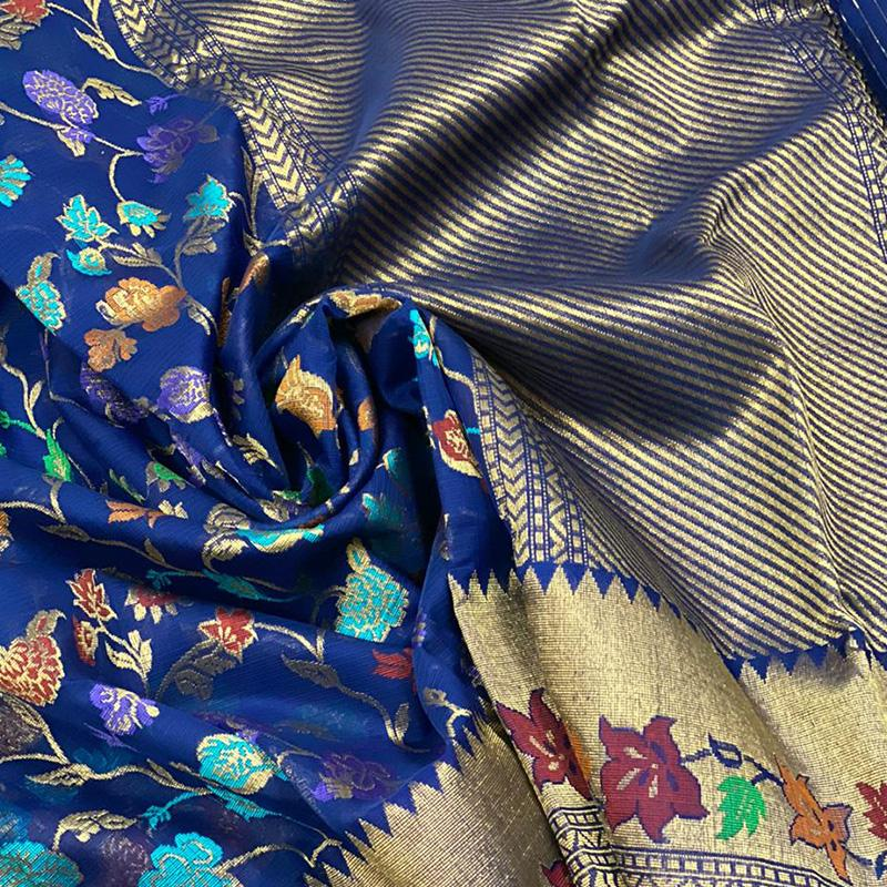 Royal Blue Kota Silk Saree