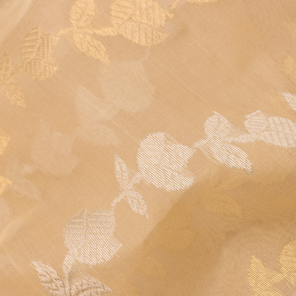 Handwoven Bane Baar Chanderi Silk Sari - WIIHSBH003  - Fabric View
