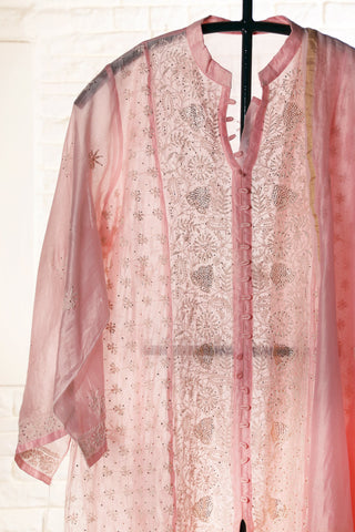 Pink Semi Stitched Chanderi Suit - WIINCK001-C