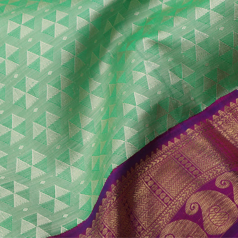 A Light Green Handwoven Kanjivaram Silk Sari- WIICS041