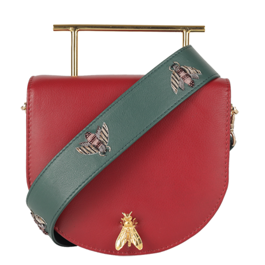Duet Luxury Colony Anthophilla - Scarlet Clutch / Clover Mint Strap