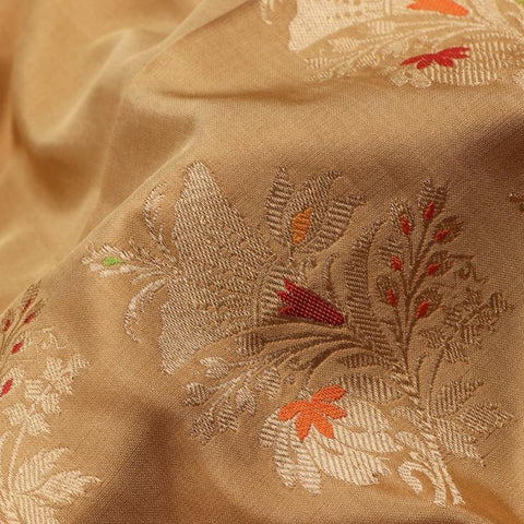 Handwoven Golden Banarasi Silk Sari- WIIBT117