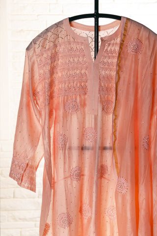 Coral Semi Stitched Chanderi Suit - WIINCK017-02