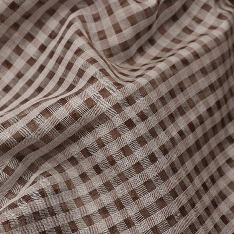 HANDWOVEN BROWN CHANDERI SILK SARI-WIIAPRICCSR02- Fabric View