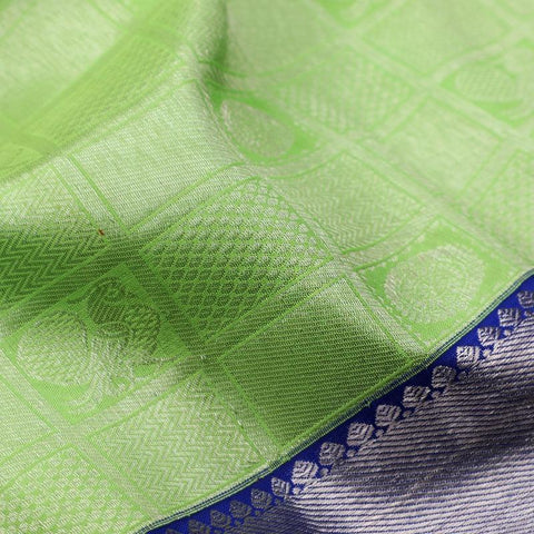 Handwoven Parrot green pure kanjivaram silk saree- WIISKVEL 012