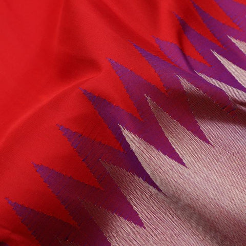Handwoven Red and Purple pure kanjivaram silk saree- WIISKVEL 003