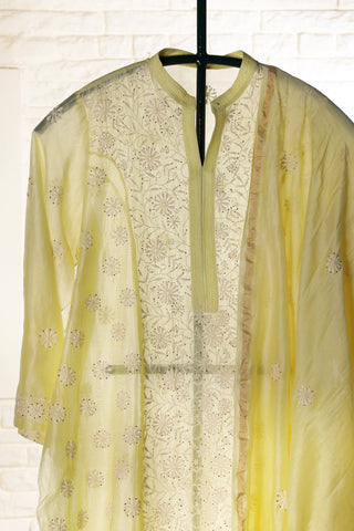Yellow Semi stitched Chanderi Suit - WIINCK001-D
