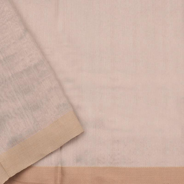 HANDWOVEN GREY CHANDERI SILK SARI-WIIAPRICSTS03- Blouse View