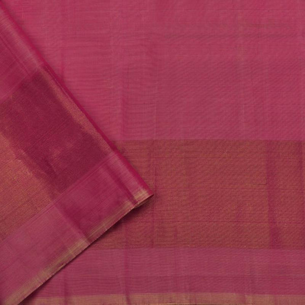 Handwoven Ecru Single Ikat Patola Silk Sari - WIIPATANARIDNAM1101118 - Blouse View
