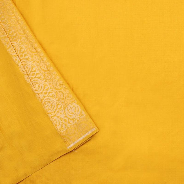 Handwoven Canary Yellow Banarasi Silk Sari-WIIGS051-Blouse View