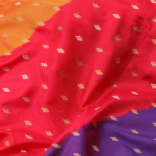 Handwoven Multicolour Banarasi Silk Sari - WIIBT0038 - Fabric View 2