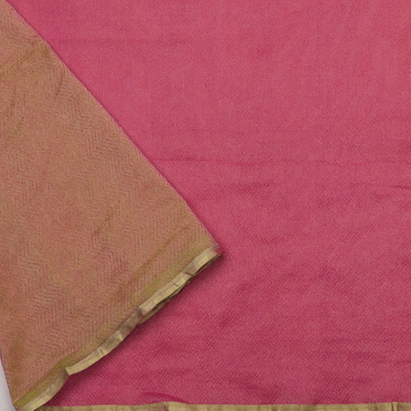 Handwoven Half and Half Kora Silk Tissue Sari - WIIRJ10173002 - Blouse View
