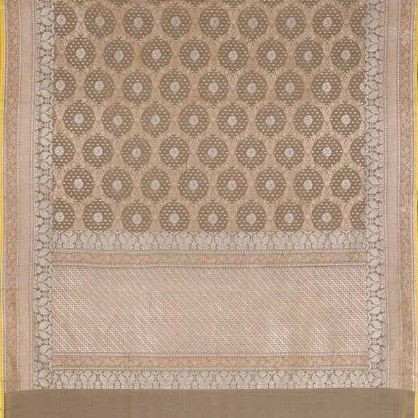 Handwoven Sand Banaras Muslin Cotton Sari-WIIGS046 - Full View