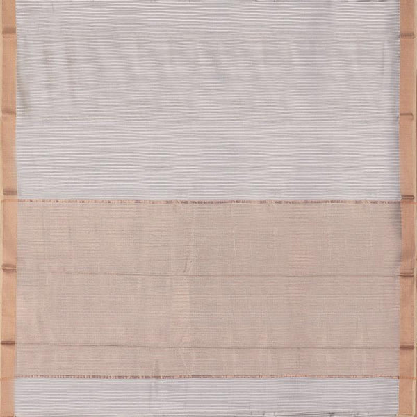 HANDWOVEN GREY CHANDERI SILK SARI-WIIAPRICSTS03- Full View