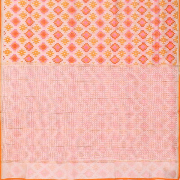 HANDWOVEN OFF WHITE CHANDERI COTTON SARI-WIIAPRICPSR06- Full View