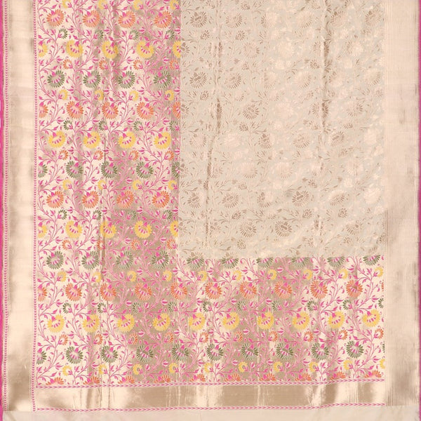 Handwoven Multicolour Half And Half Paithani Sari - WIIRJ10079001 - Full View