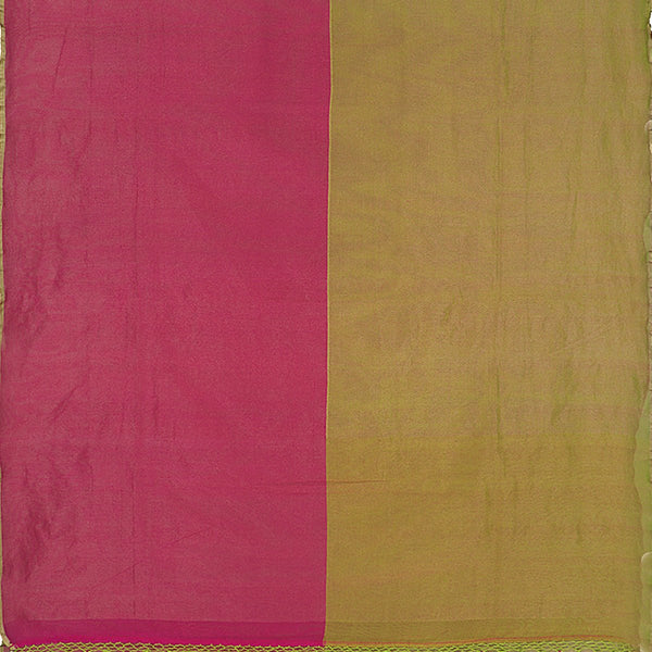 Handwoven Half and Half Kora Silk Tissue Sari - WIIRJ10173002 - Full View