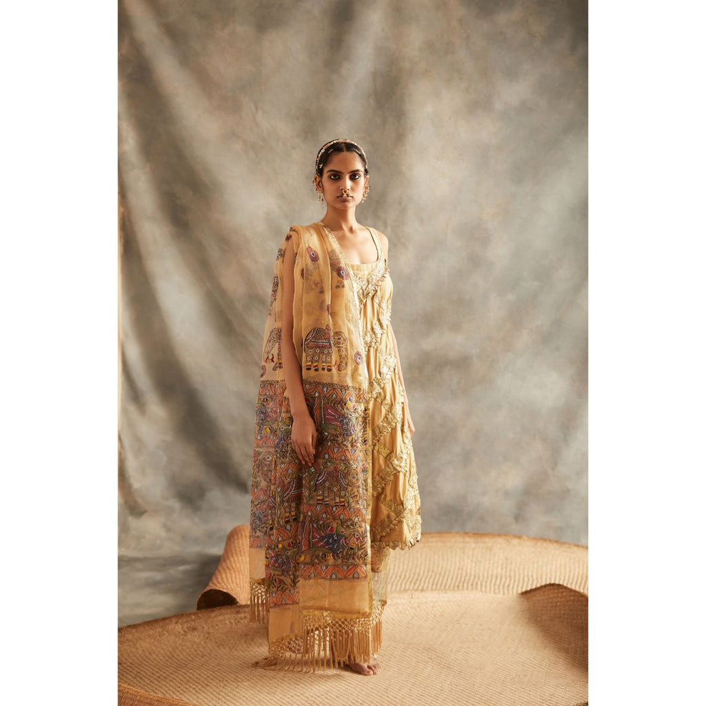 Gold Kurta Set - WeaveinIndia