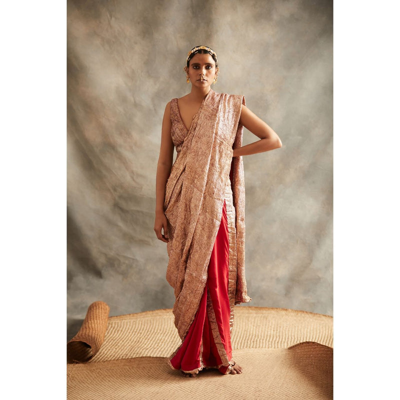 Red Lampi Saree