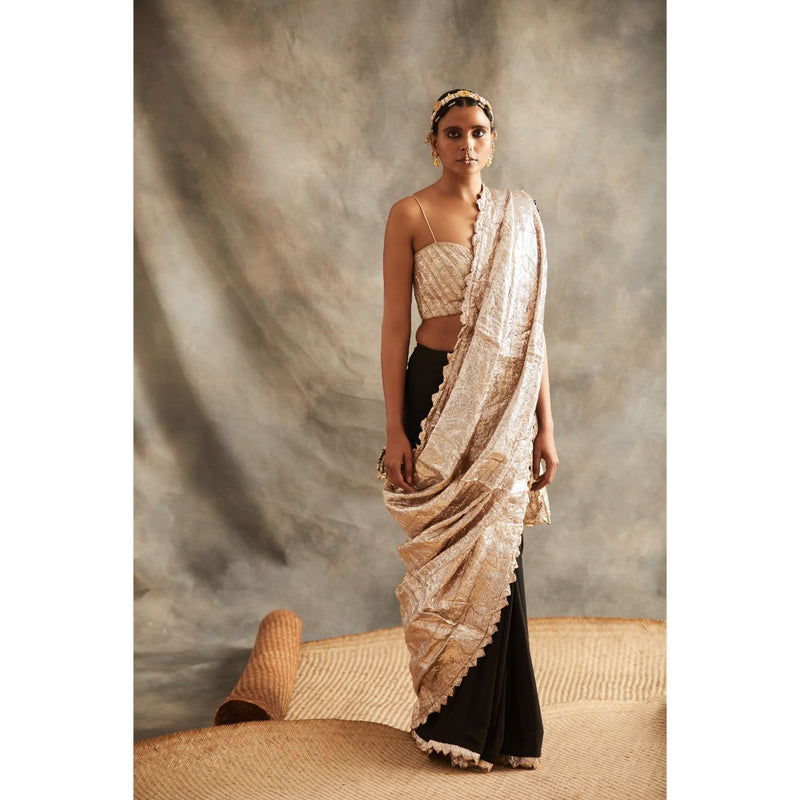 Black Lampi Saree - WeaveinIndia